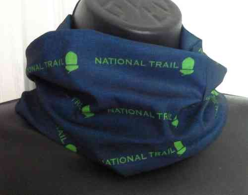 National Trail Bandana (French Navy & Lime)