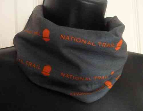 National Trail Bandana (Grey & Orange)