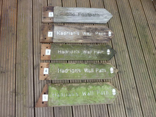 Hadrian's Wall Path Old Signs 1-10