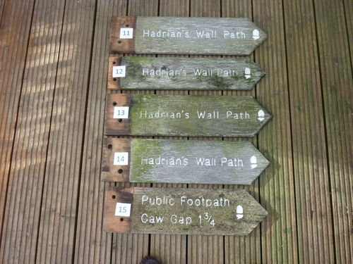 Hadrian's Wall Path Old Signs 11-20